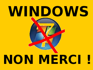 Affichette Windows non merci