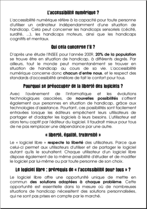 Image du flyer Accessibilité, recto
